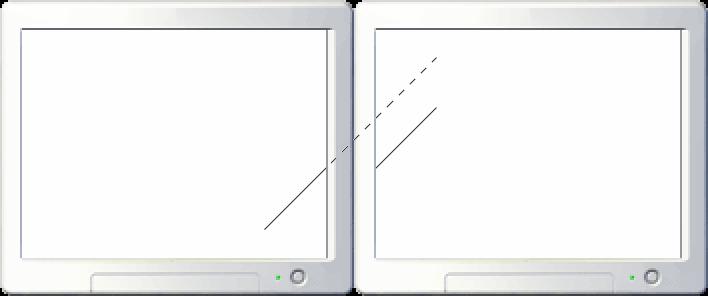 Example of measuring gap between monitors