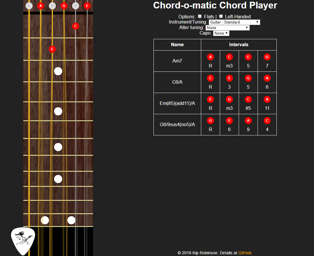 Chord-o-matic screenshot